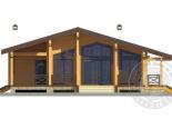 Дом из бруса Лира фасад 1