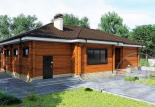 Дом из профилированного бруса Омикрон
