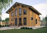 Двухэтажный дом из бруса Орфей 3