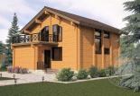 Двухэтажный дом из бруса Орфей 2