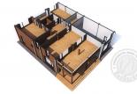 Дом из клееного бруса Альпин план 2 этаж