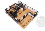 Дом из клееного бруса Альпин план 1 этаж