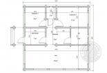 Одноэтажный дом из клееного бруса Баунти №2 план