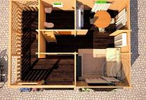 Дачный домик с мансардой купить