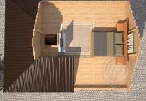 Дачный домик с мансардой недорого