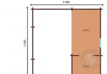 Планировка мансарды дачного дома