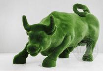 Садовая скульптура быка - топиар