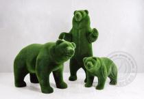 Садовая фигура три медведя