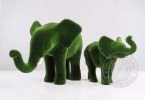 топиари слон и слонёнок