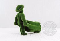 Садовая фигура Человек с тележкой