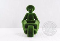 садовая скульптура Человек с тележкой