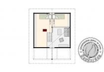 Дачный домик из бруса 70 мм с мансардой