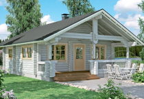 Одноэтажный дачный дом из 100 бруса  Премьер