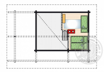 Дачный дом с мансардой из бруса 70 мм Парадиз план мансарды