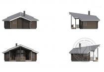Дачный дом из 160 бруса Олимп план 1