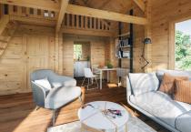 Гостевой домик из бруса 70 мм Аркона интерьер