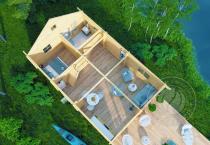 Гостевой домик из бруса 70 мм Кантон 1 этаж