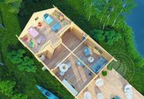 Гостевой домик из бруса 70 мм Кантон мансарда