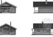 Частный дом из бруса Норд экстерьер