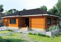 Дом из бруса Омикрон
