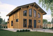 Двухэтажный дом из бруса Орфей 1