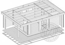 Баня из бруса 70 мм Ренессанс - схема