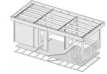 Баня из бруса 70 мм Прерия схема сборки