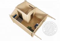 Банька из мини бруса 45 мм Готика - планировка