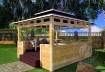 Садовая открытая беседка «Тай-Рай»