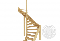 Деревянная п-образная лестница ЛС-01м