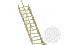 Деревянная лестница с поручнем ЛС-10у