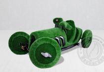 Садовая скульптура Черепаха в ретро автомобиле