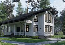 Дом из клееного бруса Рэдиссон вид сбоку