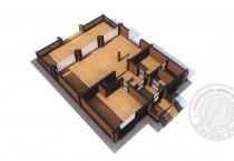 Дом из клееного бруса Рэдиссон план 1