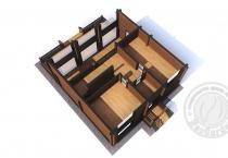 Дом из клееного бруса Рэдиссон план 2