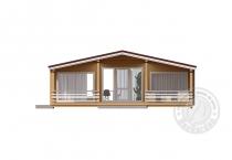 Одноэтажный дом из клееного бруса Домбай вход