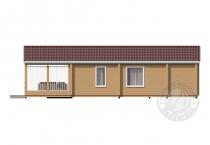 Одноэтажный дом из клееного бруса Домбай сбоку