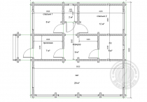 Одноэтажный дом из клееного бруса Баунти №1 план