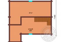 Одноэтажный дом из клееного бруса Маффин мансарда