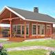 Дачный дом с мансардой из бруса 70 мм Парадиз