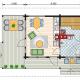 Дачный дом с мансардой из бруса 70 мм Парадиз план первого этажа