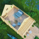 Гостевой домик из бруса 70 мм Верона мансарда