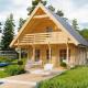 Гостевой домик с мансардой из бруса 70 мм Верона